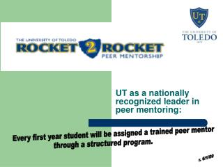 UT as a nationally recognized leader in peer mentoring: