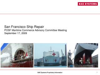 San Francisco Ship Repair POSF Maritime Commerce Advisory Committee Meeting  September 17, 2009
