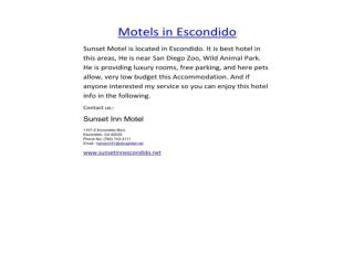 Motels in Escondido