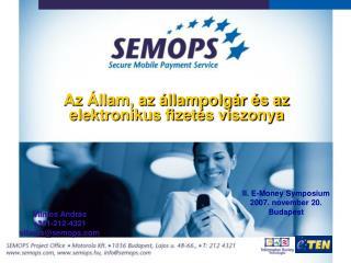 Az Állam, az állampolgár és az elektronikus fizetés viszonya