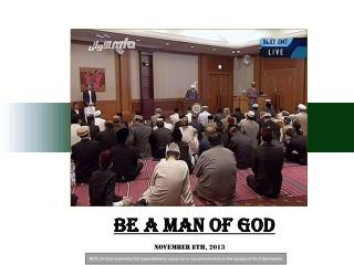 Be a man of God