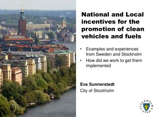 National and Local incentives for the promotion of clean vehicles and fuels