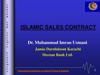 ISLAMIC SALES CONTRACT