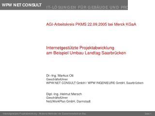 AGI-Arbeitskreis PKMS 22.09.2005 bei Merck KGaA