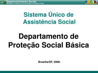 Sistema Único de  Assistência Social Departamento de  Proteção Social Básica