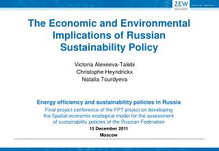 The Economic and Environmental Implications of Russian  Sustainability Policy