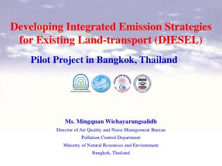 Developing Integrated Emission Strategies for Existing Land-transport (DIESEL)