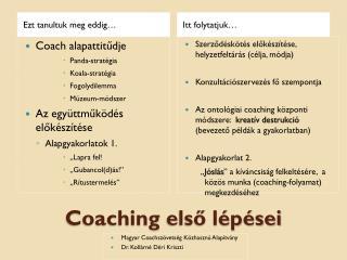 Coaching  első lépései
