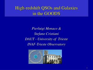 High-redshift QSOs and Galaxies  in the GOODS