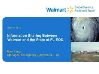 Information Sharing Between Walmart and the State of FL EOC