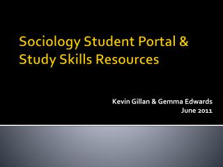 Sociology Student Portal & Study Skills Resources