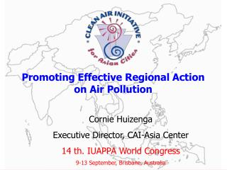 Promoting Effective Regional Action on Air Pollution