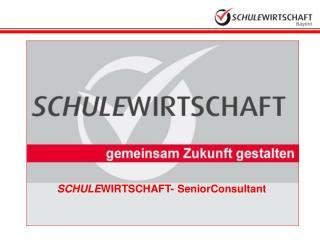 SCHULE WIRTSCHAFT- SeniorConsultant