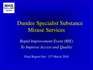 Dundee Specialist Substance Misuse Services