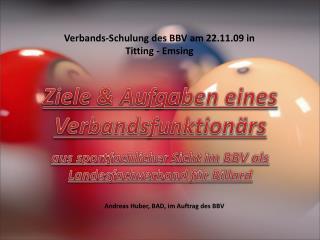 Andreas Huber, BAD, im Auftrag des BBV