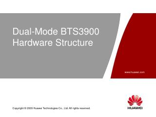Dual-Mode BTS3900  Hardware Structure