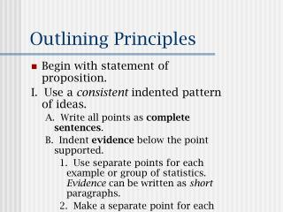Outlining Principles