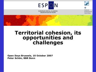 Territorial cohesion, its opportunities and challenges