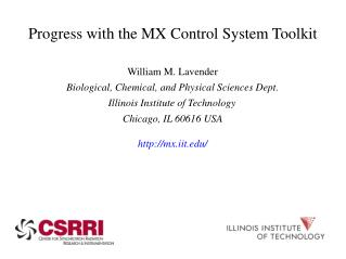 Progress with the MX Control System Toolkit