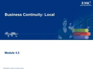Business Continuity: Local
