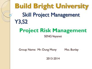 Build Bright University Skill Project Management Y3,S2