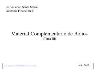 Material Complementario de Bonos (Tema III)