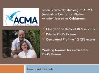 Jason and Kim Job