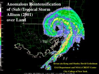 Anomalous Reintensification of (Sub)Tropical Storm Allison (2001) over Land