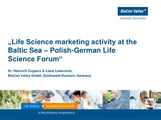 """Life Science marketing activity at the Baltic Sea – Polish-German Life Science Forum"""