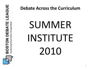 Debate Across the Curriculum