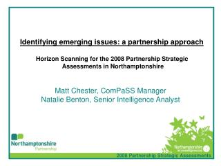 Identifying emerging issues: a partnership approach