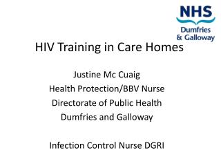 HIV Training in Care Homes
