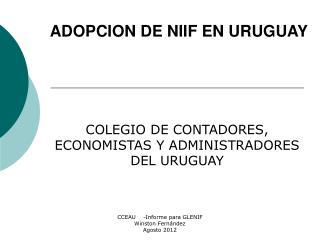 ADOPCION DE NIIF EN URUGUAY