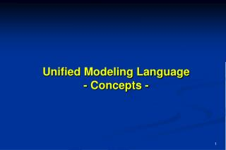 Unified Modeling Language - Concepts -