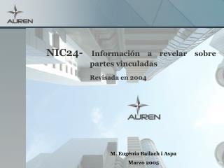 NIC24-  Información a revelar sobre partes vinculadas Revisada en 2004
