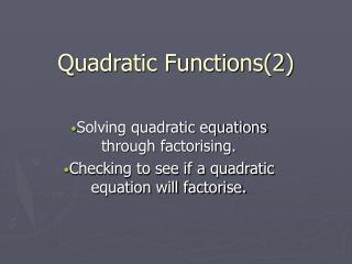 Quadratic Functions2