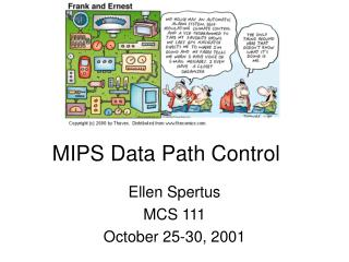 MIPS Data Path Control