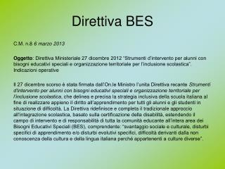 Direttiva BES