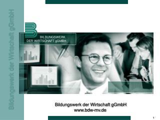 BILDUNGSWERK DER WIRTSCHAFT gGMBH