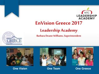 EnVision Greece 2017 Leadership Academy Barbara Deane-Williams, Superintendent