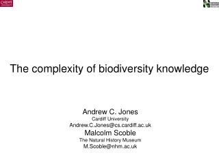 The complexity of biodiversity knowledge