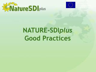 NATURE-SDI plus Good Practices