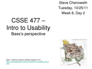 CSSE 477 –  Intro to Usability Bass's perspective