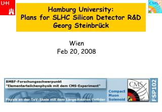 Hamburg University: Plans for SLHC Silicon Detector R&D Georg Steinbrück