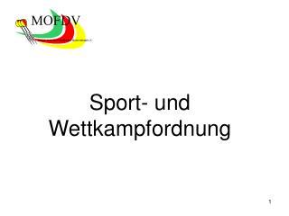 Sport- und Wettkampfordnung