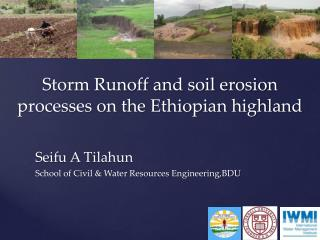 Storm Runoff and soil erosion processes on the Ethiopian highland