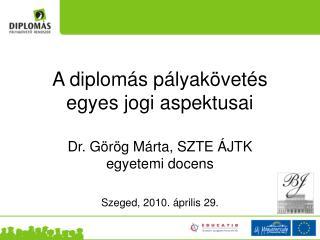 A diplomás pályakövetés egyes jogi aspektusai