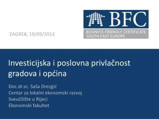Investicijska  i  poslovna privlačnost gradova  i  općina