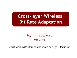 Mythili Vutukuru MIT CSAIL Joint work with Hari Balakrishnan and Kyle Jamieson