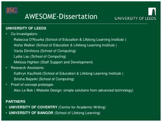 AWESOME-Dissertation